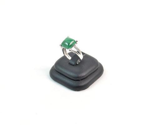 Anello a griff in Argento 925 e Malachite